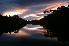 [フリー画像] [自然風景] [河川の風景] [夕日/夕焼け/夕暮れ]        [フリー素材]
