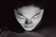 iris (kathalijne) Tags: sleeping portrait blackandwhite woman beautiful beauty tmax3200 belgium minolta womanonly thai antwerp eyesclosed theface kathalijne kathalijnevanzutphen explore14