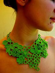 Colar*Crochet*1 (Fios de Linha) Tags: crochet colar bijutaria gargantilhas adereo