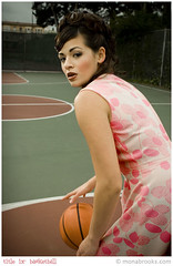 Title IX: Basketball (SFMONA) Tags: sports fashion basketball vintage court action retro concept ideal conceptual womenissues brittnijoy
