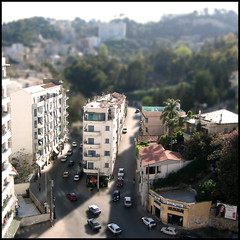 Algiers - the area where i grew up    (jam-L) Tags: 2003 photoshop algeria miniature dof manipulation april avril algrie algiers alger fak