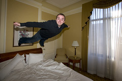 Made It Home (DanielN) Tags: sanfrancisco selfportrait me flying bed flight westinstfrancis bedjumping bedjump