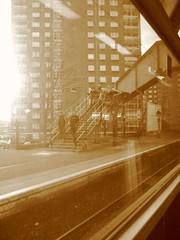 Dalmuir (El Fideldo) Tags: sunset sepia train balloch