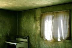 grease fire (helveticaneue) Tags: sun green abandoned window kitchen march pennsylvania 2006 stove centralia curtains tam pdn centralpa centralpennsylvania weirdpa prfm kicey laurakicey inburger pflg