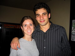 Sarah with Aaron Stern of Matchbook Romance. (EriQ.) Tags: arizona concert tucson rialtotheatre matchbookromance takeaction takeactiontour