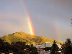 double rainbow (emdot) Tags: rainbow sanluisobispo calpoly afterahugestorm itrainednearly2inchestoday