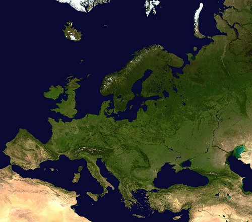 European map satellite view