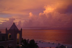 Cancun approaching sunset (Dysanovic) Tags: sunset red sea vacation sky holiday beach clouds hotel sand balcony palmtree cancun caribbean redsky tranquil cloudscape cancn caribe riu deleteit cotcmostinteresting saveit saveit2 saveit3 saveit4 saveit5 saveit6 saveit7 saveit8 saveit9 saveit10 savedbythedmusunscapesgroup top20cloud 1on1sunrisesunsets hotelriu welldoneyou travelerphotos thegalleryoffinephotography
