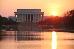 Lincoln Memorial at Sunset (Bill in DC) Tags: sunset washingtondc 2006 apex lincolnmemorial jeffersonmemorial eos5d natureslight