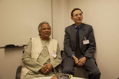Muhammud Yunus and Bill Drayton