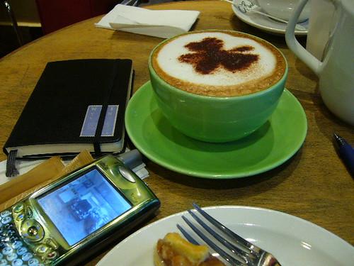 Artistic cappuccino..