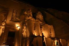 EG05 5831 Abu Simbel - after sunset (Templar1307) Tags: 2005 travel statue lowlight ancient ruins egypt best nile egyptian aswan nubia pharoah ramses nasser heiroglyphics abusimbel ramesses itso lakenasser p1f1
