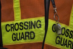 crossing guard and whistle