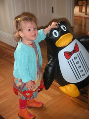 lucy and the penguin 3 (moyalynne) Tags: penguin lucy sylvie karin