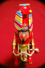 Monkey on a Tricycle (keith10eyck) Tags: red favorite toy monkey tricycle vivid keith ten eyck nikonstunninggallery keith10eyck