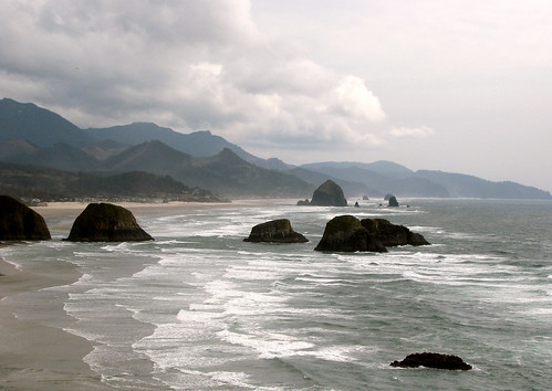 Pacific Ocean at Cannon Beach,  Oregon