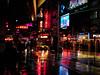[2005] West 42nd Street... (Diego3336) Tags: street nyc urban usa signs ny newyork reflection wet colors rain night america lowlight theater neon nightshot manhattan cab taxi broadway rainy timessquare loews taxicab streetshot theaterdistrict