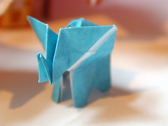 elephant-baby (noisia) Tags: elephant fauna paper origami folding kawahata