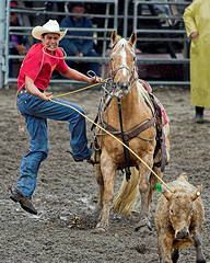 Kala'i (konaboy) Tags: horse rain hawaii rodeo calf kona stampede roper kalai 18870b nobriga