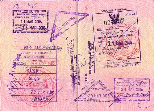 Visa to Thailand 2006 + Re-Entry Permit by zhaffsky, on Flickr