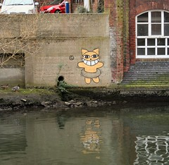 The one true cat (Colonel Blink) Tags: graffiti hellokitty norfolk norwich artschool colonelblink elmhillcarpark jivagotherefirst