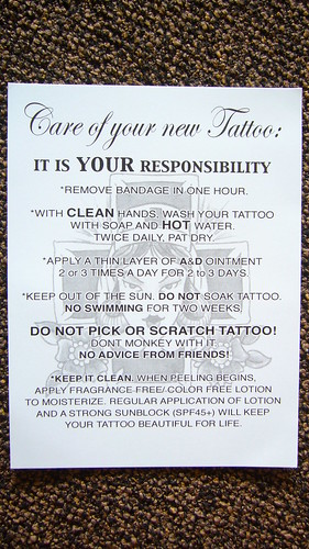 Tattoo Aftercare Tattoo Aftercare Instructions Once your tattoo artist inks