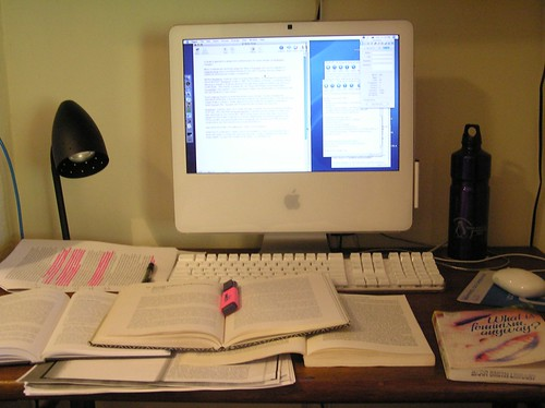 Essay time (Postmodern Feminism): My Desk