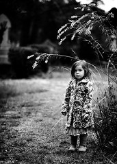 Madison at rookwood ({amanda}) Tags: girl grass contrast dark moody child 85mm naturallight jacket bnw threeyears naturallightkids amandakeeysphotography