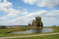Whitby Abbey (Sunshine Hanan) Tags: uk trip england cliff history church abbey tag3 taggedout easter spring tag2 tag1 roman yorkshire great landmark dracula christian whitby historical christianity tradition viking northeast eastcoast dayout whitbyabbey significant englishheritage historically sthilda victoruian