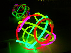 Glowing Ball (MGSpiller) Tags: party reflection ball sticks glow teledu eastercon