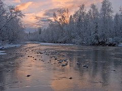 Spring Snow (jack4pics) Tags: usa alaska river ilovenature searchthebest sundown matsu springsnow naturescenes littlesu lovephotography