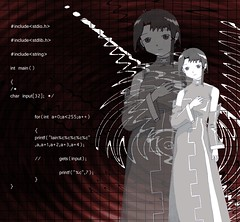 Serial Experiments Lain 0001 (little.jafa) Tags: anime digitalart cartoon manga gimp fanart lain digitalimaging serialexperiments