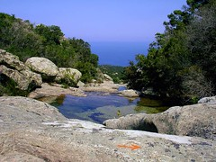 Ikaria 166 (isl_gr (Mnesterophonia)) Tags: mountain pool island pond hiking beautyconcealed ikaria  aegean trails greece blogged dip trailmarker hikingikaria  waterdreams caria balissage trailoftheelves