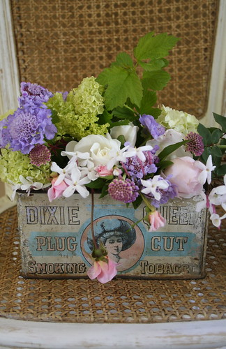 vintage advertising and flowers