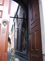 Mehmet Fatih Camii - glimpse into courtyard (birdfarm) Tags: turkey türkiye istanbul mosque ottoman İstanbul ottomanarchitecture fatih camii ottomanempire mehmetfatihcamii mehmettheconqueror