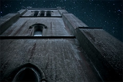 The Church Looms Above Us (Ichor) Tags: above uk blue building art texture abandoned church night digital stars suffolk worship decay urbandecay religion perspective moonlit abandon highrise ambient moonlight tall nightsky derelict epic looming burystedmunds tallbuilding horringer ickworth ickworthpark looms churchoftheweek