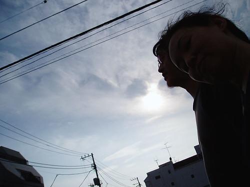 Me, Beard and morning sun - ワタシとベアードと朝日