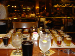 Two Samplers and a Schwartzbier (Scott Holmes) Tags: beer ale brewery chico sierranevada paleale sierranevadabrewery