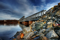 Steel &  Blue A few Rocks too (RicKarr) Tags: bridge canada digital photography carr photo blog eric newbrunswick geary fav hdr oromocto ericcarr rickarr nbphoto favcol copyrightedbyericdcarrallrightsreservednounauthorizedusageallowed