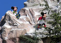 Mickey and Minnie Climbing the Matterhorn at Disneyland