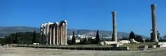 Athens: Temple of Olympian Zeus (panoramic) (wallyg) Tags: autostitch panorama temple ruins europe roman widescreen hellas athens panoramic greece zeus mythology hadrian greekmythology ancientgreece  greektemple templeofolympianzeus   hellenicrepublic olympeion  hellenistc