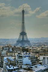 eiffelscape (R.Duran) Tags: paris france tower nikon europa europe torre tour d70s arc triomphe eiffel triumph francia hdr triunfo 100vistas sigma18200mm 230countriesfrance 1xp ltytr1
