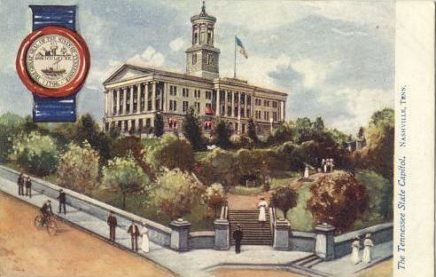 1907 view of the capitol - post card