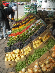 Fruit & vegetable market 2 (SqueakyMarmot) Tags: africa travel frutas fruits vegetables southafrica market mercado gardenroute knysna vegetales gmofreesthafrica