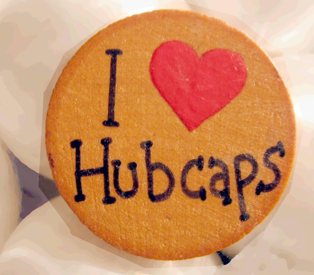 I Love Hubcaps Refrigerator Magnet