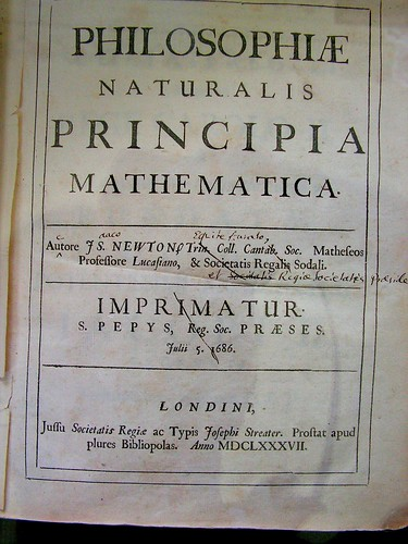 The First Edition of Principia, with Isaac Newton's Corrections