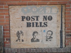 Post No Bills (Quasimondo) Tags: streetart stencils toronto canada graffiti funny message bills postnobills billclinton billgates billcosby