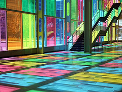 Rainbow ([fokus]) Tags: canada reflection glass colors rainbow colorful floor quebec montreal palace congress palais colourful palaisdescongres congres