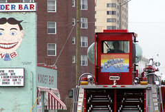 Greetings From Asbury Park NJ (Sister72) Tags: red asburypark nj firetruck monmouthcounty sister72 wonderbar oceanavenue greetingsfromasburypark coolwindows tillie2