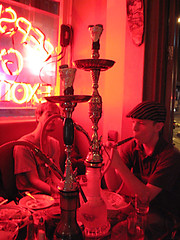 At the Hookah bar by aloverstryst